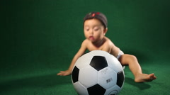 Children play soccer - stock footage