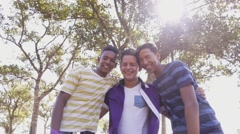 11-Slow Motion Multiethnic Group Of Teenagers Smiling - stock footage