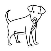 Animal and Pet love. Dog cartoon  icon. vector graphic - stock illustration