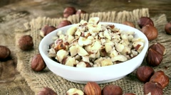 Minced Hazelnuts (seamless loopable; 4K) Stock Footage