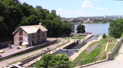 Rideau Canal waterway Stock Footage