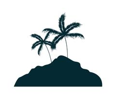 Summer and beach concept. Palm tree icon. vector graphic - stock illustration