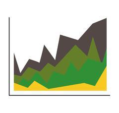 Green  infographic data concept. polygon  icon. vector graphic - stock illustration