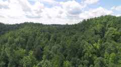 Aerial Hikers in Red River Gorge / Daniel Boone Forrest in Appalachian Mountains Stock Footage