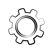 Machine part design. Gear  icon. vector graphic - stock illustration