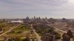Detroit Aerial of cityscape - stock footage
