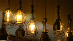 Retro Light Bulb Lighting Series Stock Footage