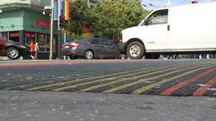 LGBT Sidewalk in Castro San Francisco Stock Footage