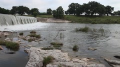 This is a video of the Pedernales River in Stonewall Texas. Stock Footage