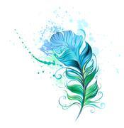 Green feather Stock Illustration