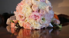 Wedding bouquet Rosie Stock Footage
