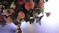 Bouquet of pink flowers Stock Footage