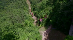 Aerial Of Lift Over Red River Gorge, Daniel Boone Forrest, Appalachian Mountains Stock Footage
