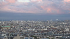 Aerial View City Urban Landscape Paris Town Travel Destination Summer Holiday. Stock Footage