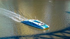 Closeup of a Citycar ferry on a Brisbane river, Australia Stock Footage