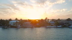 Florida Keys Aerial over homes Stock Footage