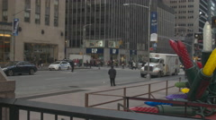 7th Avenue, Busy Street in New York Stock Footage