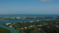 Florida Keys Aerial over Boot Key Stock Footage