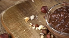 Portion of Chocolate Cream (seamless loopable; 4K) - stock footage