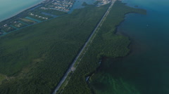 Florida Keys Aerial over Fat Deer Key Stock Footage