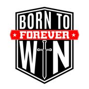 T shirt typography graphic quote Born to win Stock Illustration