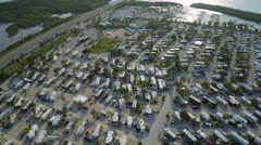 Florida Keys Aerial over Ohio Key Stock Footage