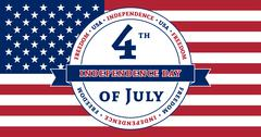 American Independence Day celebration flag Stock Illustration