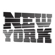 T shirt typography graphics New York lines Stock Illustration
