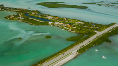 Florida Keys Aerial over Shark Key Stock Footage