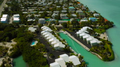 Florida Keys Aerial over Big Coppitt Key Stock Footage