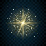 Shine star sparkle icon - stock illustration