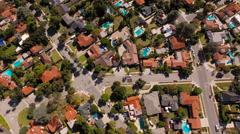 Glendale Aerial vertical over neighborhood Stock Footage
