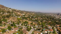 Glendale Aerial over luxury neighborhood Stock Footage
