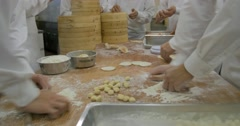 Chiefs making Shoronpo in Taipei Taiwan restaurant Stock Footage