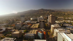 Glendale Aerial over downtown Stock Footage