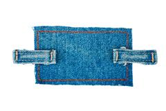Frame made of denim with two straps of jeans, isolated Stock Photos