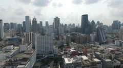 Central Bangkok City Panorama Aerial Video Stock Footage