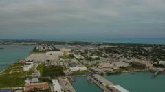 Key West Aerial over marina Stock Footage