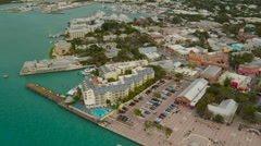 Key West Aerial over town Stock Footage