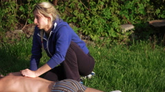 Massage on nature of man Stock Footage