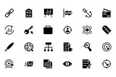 Online Marketing Vector Icons Pack Stock Illustration