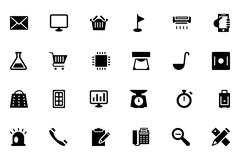 Tools Solid Icons Stock Illustration