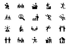 People Vector Icons Set - stock illustration