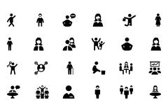 People Icons Collection Stock Illustration