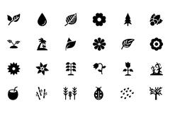 Nature Vector Icons Set - stock illustration