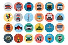 Transport Related Icons Stock Illustration