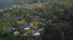 Lookout Mountain Aerial over gardens Stock Footage