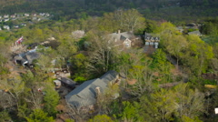 Lookout Mountain Aerial over gardens - stock footage