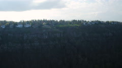 Lookout Mountain Aerial of cityscape - stock footage