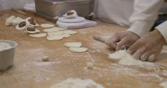 Cook prepairing shoronpo dumplings in resturant Taiwan - stock footage